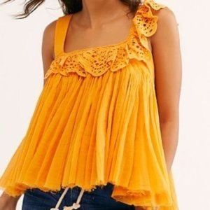 Free People One Garden Party Eyelet Top Size XS